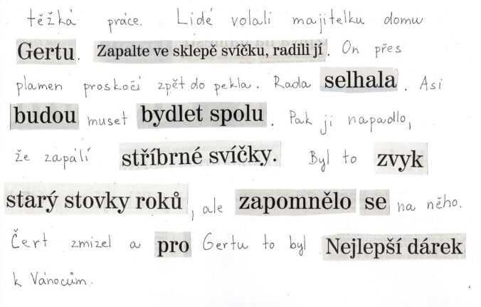 Koláž - pohádka z novinových titulků.