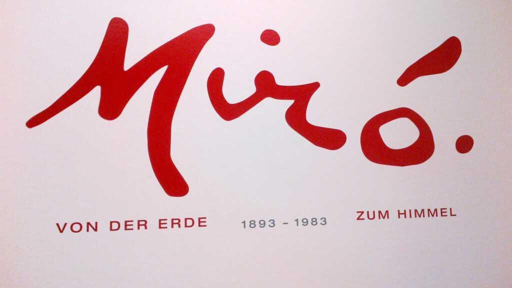 Podpis Juana Miró.