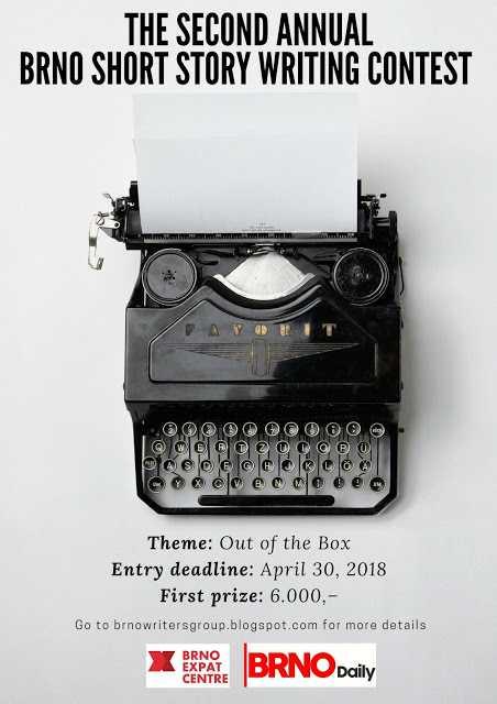 leták k literární soutěži v angličtině