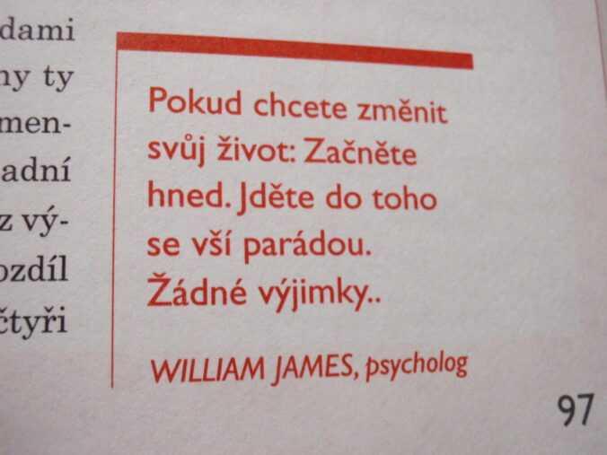 citát William James