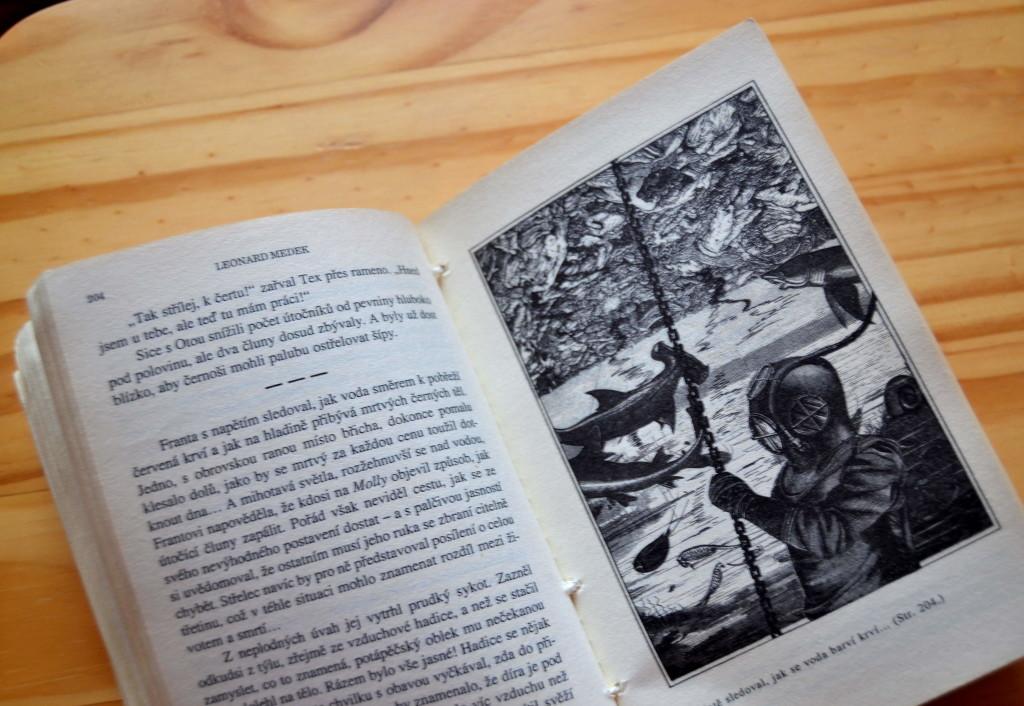 Medek sám ilustroval svoji knihu Dobrodruh.