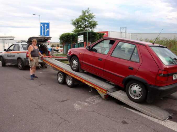 odtahované auto