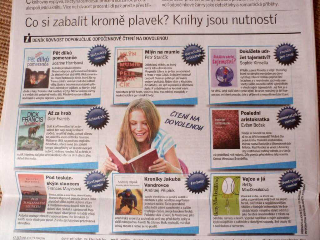 Grafika o knihách na léto.