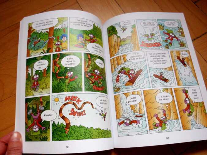 komiks Viktorka a vesmírná dobrodužství