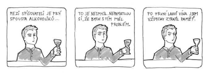 komiks spisovatel alkohol