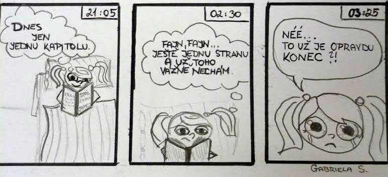 komiks čtenářka