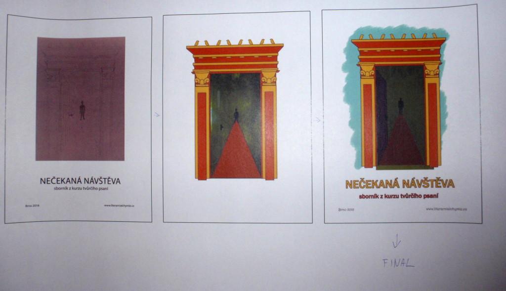 Výroba obálka na sborník tvůrčího psaní