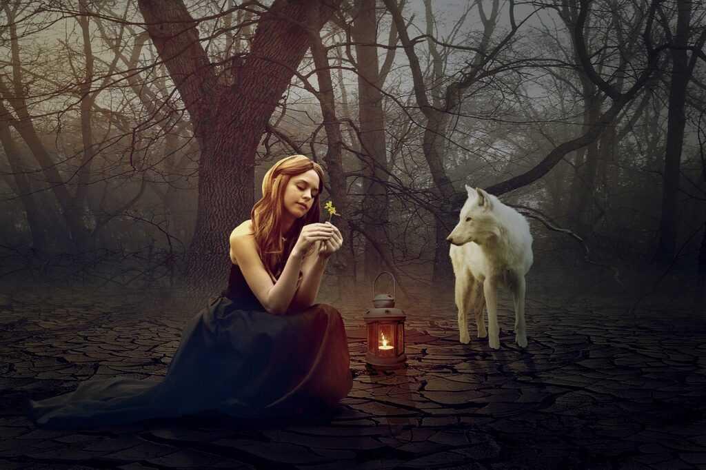 dívka a vlk