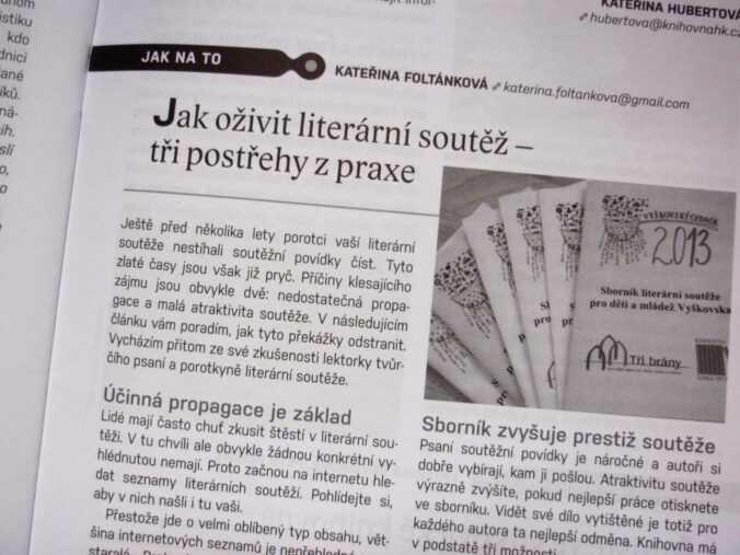 článek o literárních soutěžích